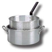 King Kooker Aluminum Fry Pan with Long Handle - 10 qt.