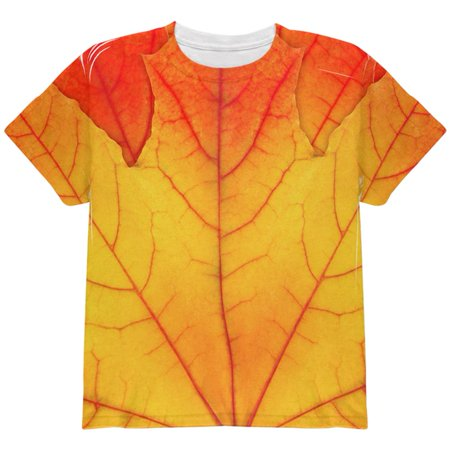 Halloween Autumn Fall Leaf Costume All Over Youth T Shirt](Halloween Nyc 18 And Over)