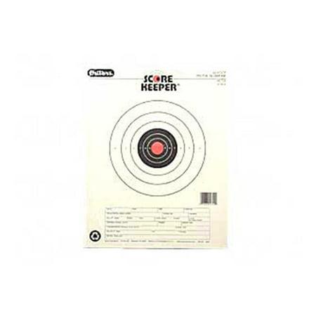 Champion Traps and Targets Orange Bullseye Scorekeeper Target, 50 Feet Pistol Slow Fire,