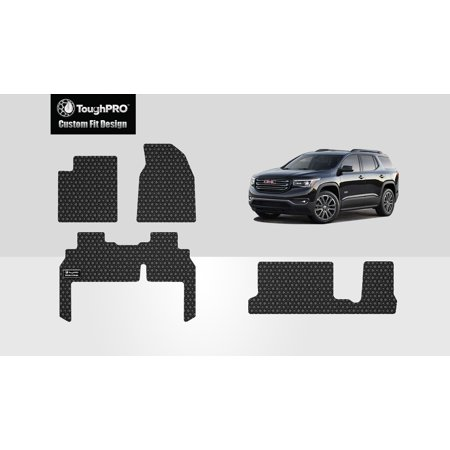 ToughPRO - GMC Acadia Front, 2nd & 3rd Row Mats - All Weather - Heavy Duty - Black Rubber - 2019 (Front, 2nd & 3rd Row Mats) Gmc Heavy Duty