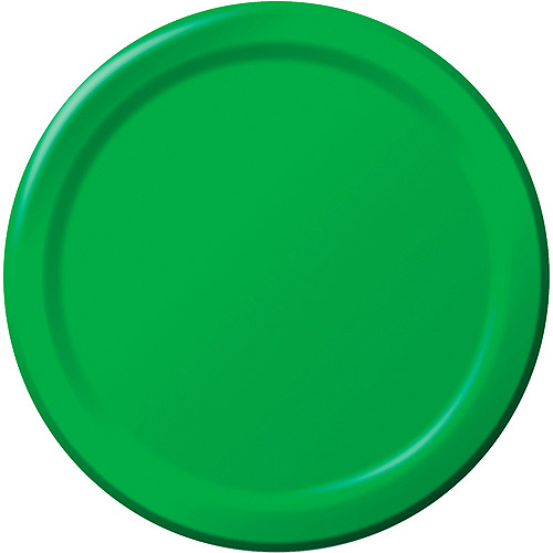 Creative Expressions 7'' Luncheon Plates - 24-Pack, Emerald Green