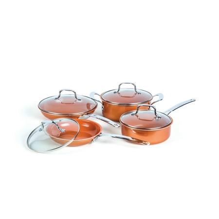 Innova 8pc Non-Stick Ceramic Coated Copper Cookware