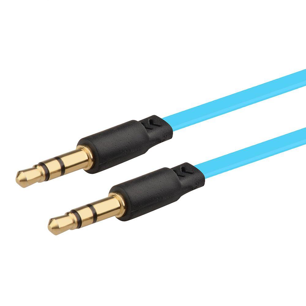 3.5mm audio cable by Insten 3.5mm Male to Male Stereo Audio Aux Cable M/M 3.3 Feet Light Blue for Cell Phone Mobile Smartphone PC Speaker Universal