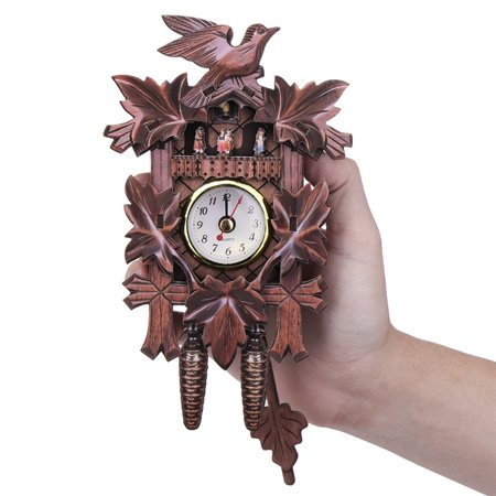 4 Types Vintage Cuckoo Clock Forest Quartz Swing Owl German Hunter Deer Maple Leaf Bird Decorations Wall Alarm Handmade Decor For Bar Cafe Home Living Room Bedroom Gift Walmart Canada