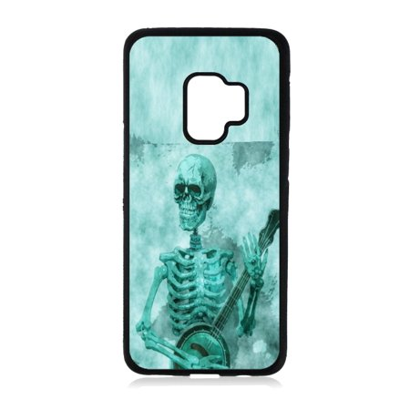 Skeleton Playing the Banjo Black Rubber Case for the Samsung Galaxy s9+ - Samsung Galaxy s9 Plus Case - Samsung Galaxy s9 P Case](Banjo Playing Skeleton)