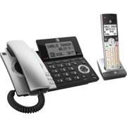 AT&T - CL84207 DECT 6.0 Expandable Cordless Phone System with Digital Answering System and Smart Call Blocker - Silver/Black