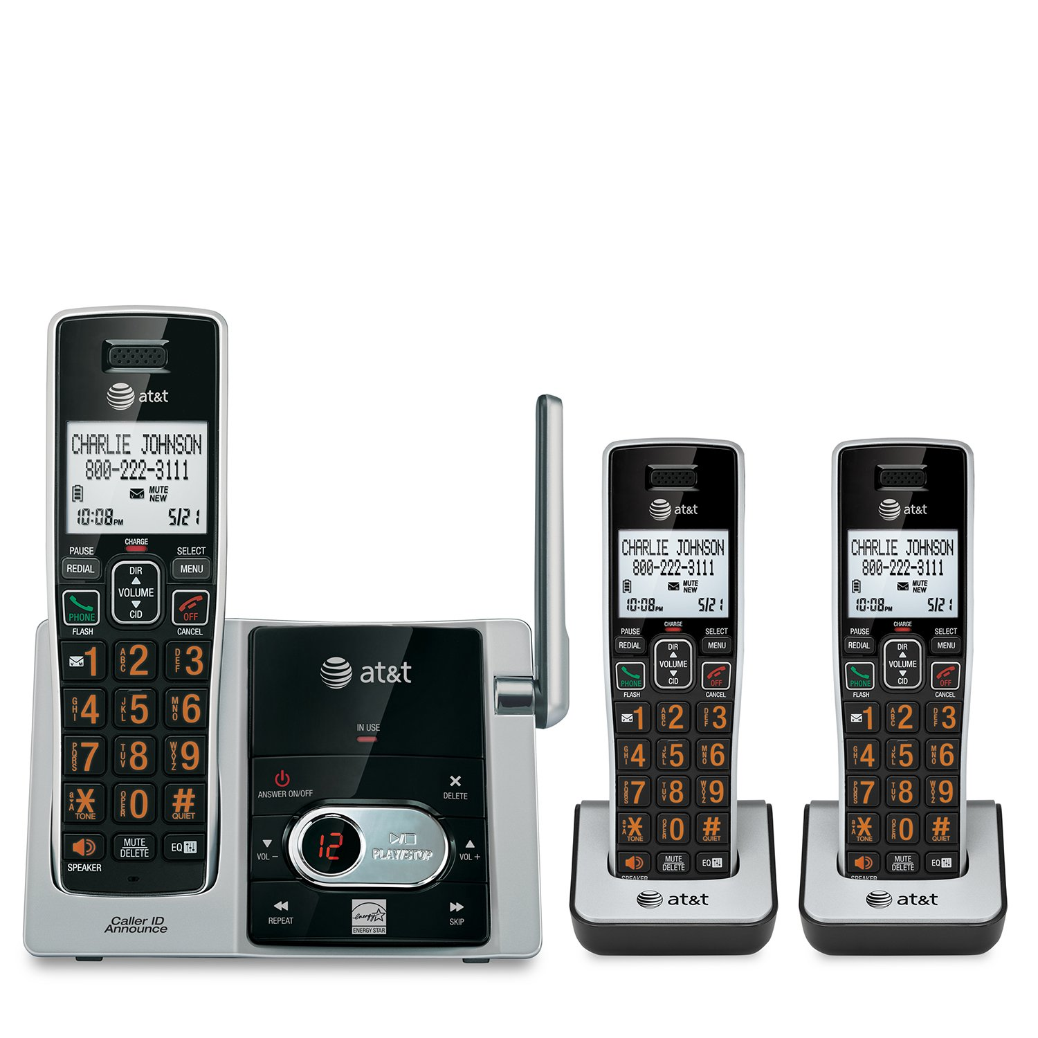 At&t Cl82313 Dect 6.0 Cordless Phone - Cordless - 1 X Phone Line - 2 X Handset - Speakerphone - Answering Machine - Caller Id - Hearing Aid Compatible (cl82313)