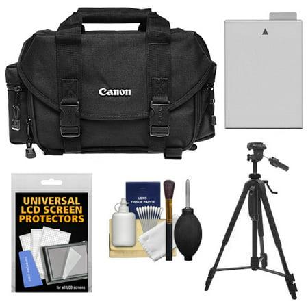 Canon 2400 Digital SLR Camera Case with LP-E8 Battery + Tripod + Accessory Kit for Rebel T2i, T3i, T4i,
