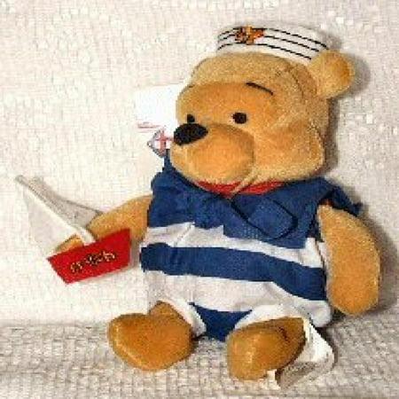 disney mini bean bag nautical pooh