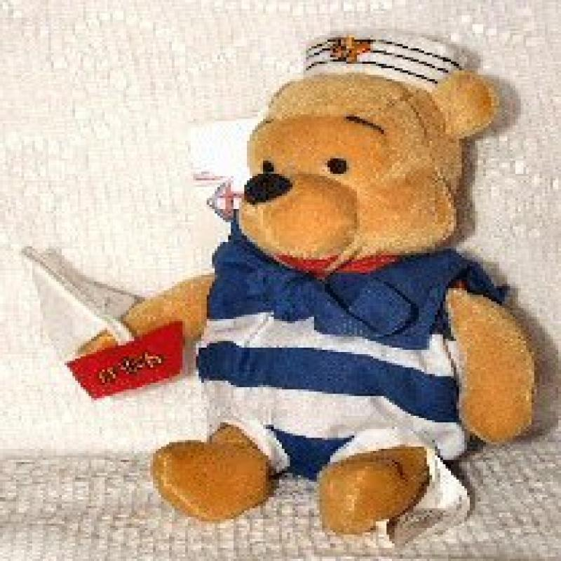 Disney Mini Bean Bag Nautical Pooh