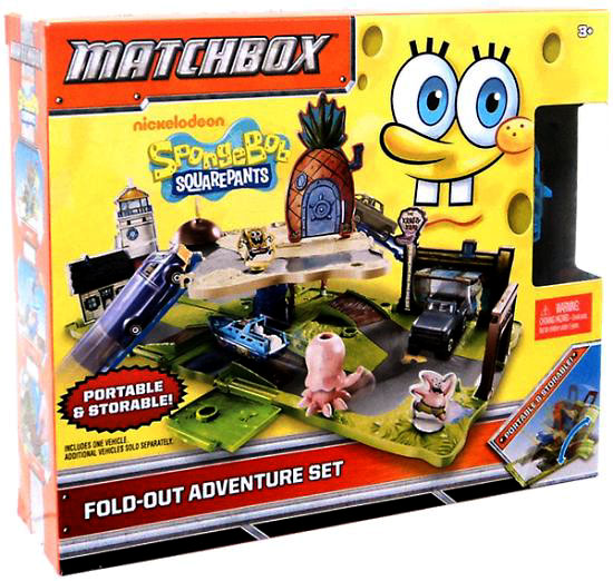 Spongebob Squarepants Matchbox Fold-out Adventure Set Playset by