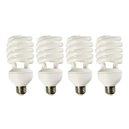 (4) HYDROFARM FLC32D 32W Dayspot CFL Spiral Compact Fluorescent Grow Light Bulbs
