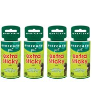 Evercare Refill for Extra Sticky Pet Hair Lint Roller (Pack of 4)
