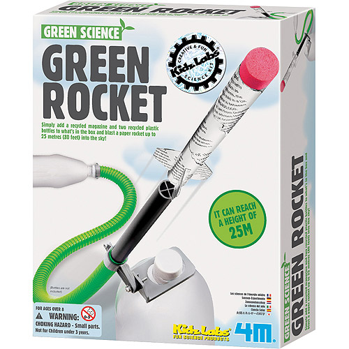Green Rocket - Science Kits by Toysmith (4630)
