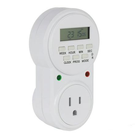 EU US UK Plug Smart Power Socket Digital Timer Switch Energy Saving Adjustable Programmable Setting of Clock On Off Time