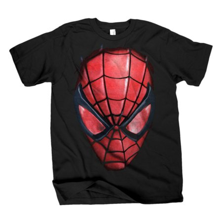 Spider Face (The Amazing Spider-man Spidey Face Black T-Shirt | L)