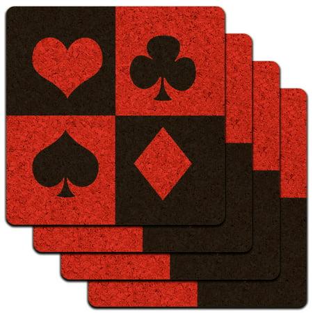Poker Night Coasters (Casino Party Card Poker Game Night Low Profile Cork Coaster)
