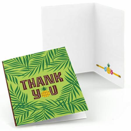 Tiki Luau - Tropical Hawaiian Summer Party Thank You Cards (8 count) - Hawaiian Graduation