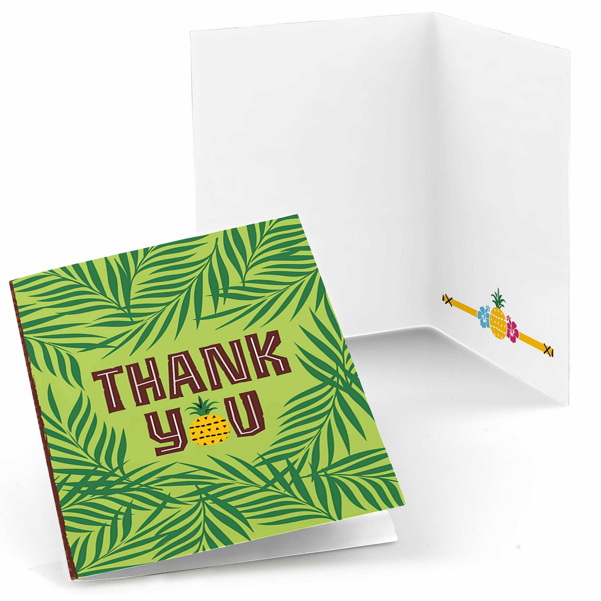 Tiki Luau - Tropical Hawaiian Summer Party Thank You Cards (8 count)