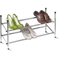 "Honey Can Do 24"" to 44"" Expandable Steel Shoe Rack, Chrome"