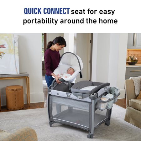 Graco® Pack 'n Play® Quick Connect™ Portable Seat DLX Playard featuring Rapid Remove, Ellison