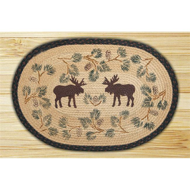 Capitol Importing 90-430 Moose-Pinecone - 20 inch x 30 inch Hand Print Oval