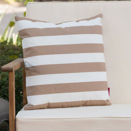 Ebern Designs Mayne Square Striped Outdoor Throw Pillow Walmart Com