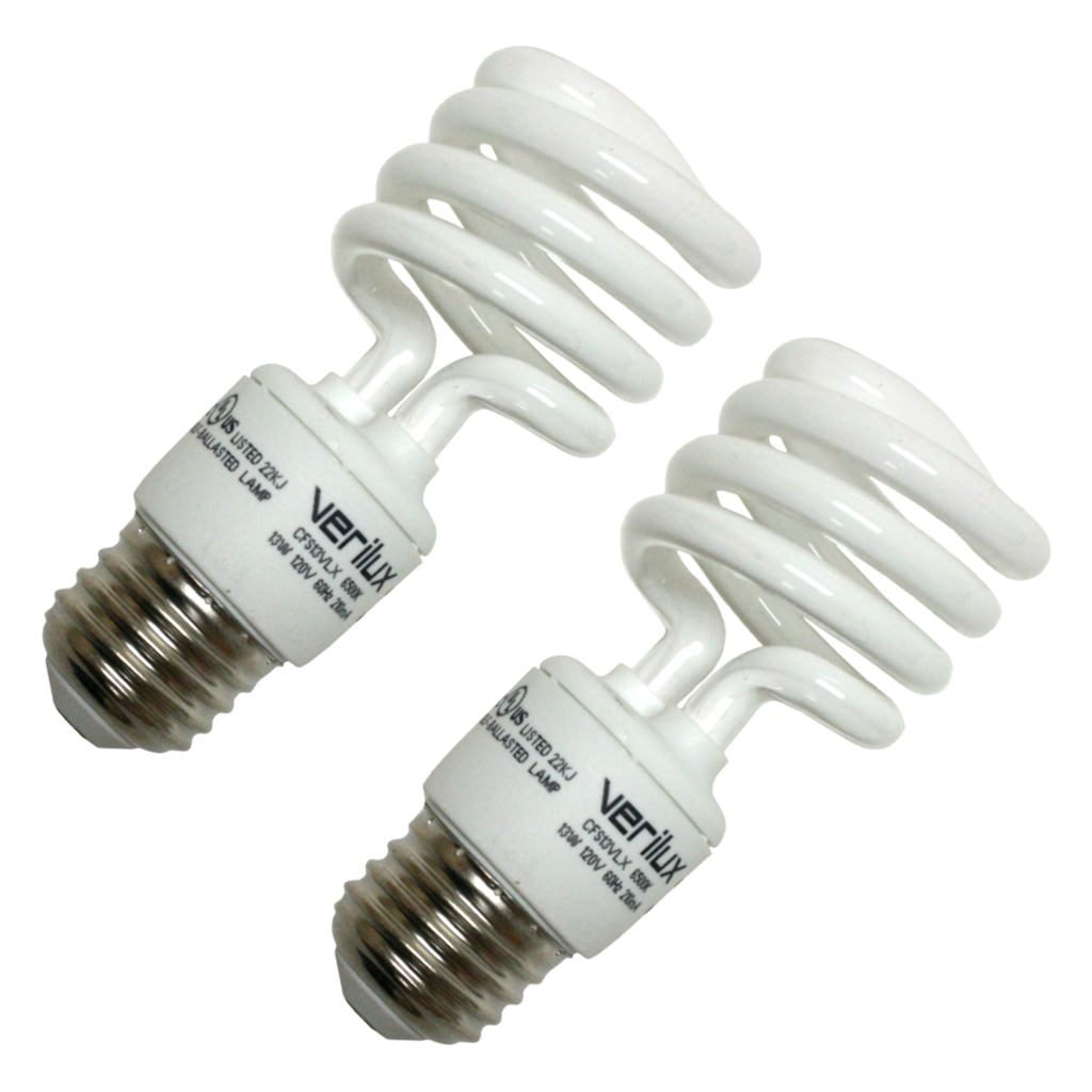 Verilux 05111 CFS13VLX Compact Fluorescent Daylight Full Spectrum Light Bulb by Verilux Inc