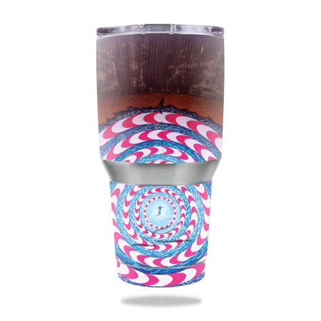 MightySkins Skin for Ozark Trail 30 oz Tumbler - Checkered Horses   Protective, Durable, and Unique Vinyl Decal wrap cover   Easy To Apply, Remove, and Change Styles   Made in the (Snowman Made Out Of Cups For Door)