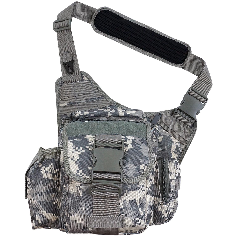 Every Day Carry Tactical Messenger MOLLE Side Sling Shoulder Bag w/Pistol Pocket