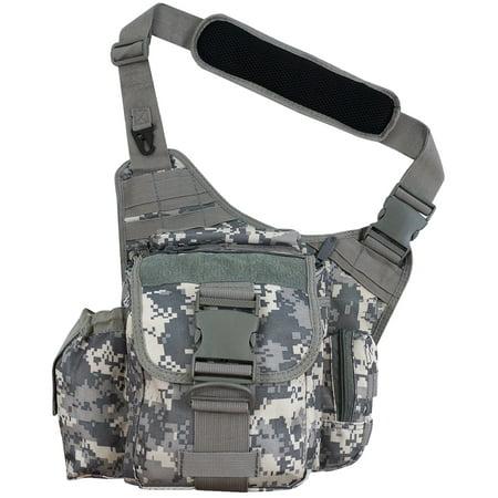 Every Day Carry Tactical Messenger Side Sling Shoulder Bag w/Pistol Pocket - (Side Sling)
