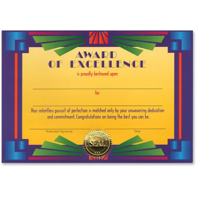 Award Of Excellence Certificate (Pack of 6) by DDI