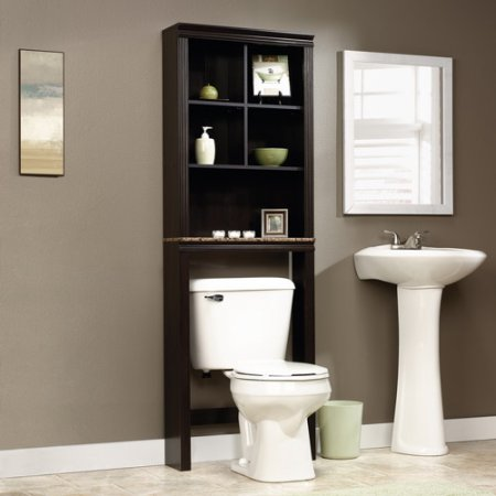 Sauder Peppercorn Space Saver Bathroom Cabinet, Cinnamon Cherry
