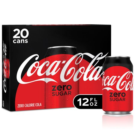 Coke Zero Sugar Soda, 12 Fl Oz, 20 Count (Soda Package)