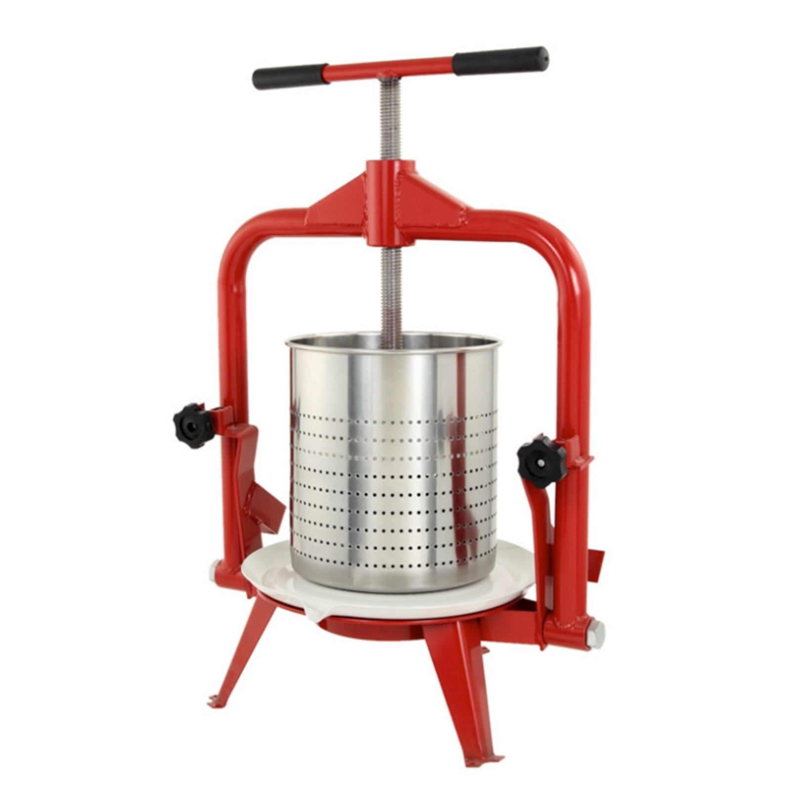 TSM Products Harvest Fiesta Fruit and Wine Press with Stainless Steel Basket