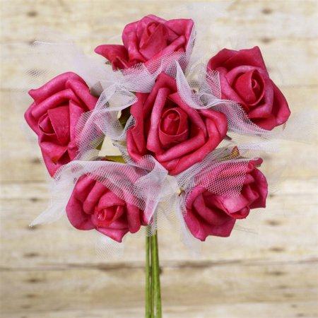72 Beautiful Silk Roses Wedding Bouquet Vase Centerpiece Floral