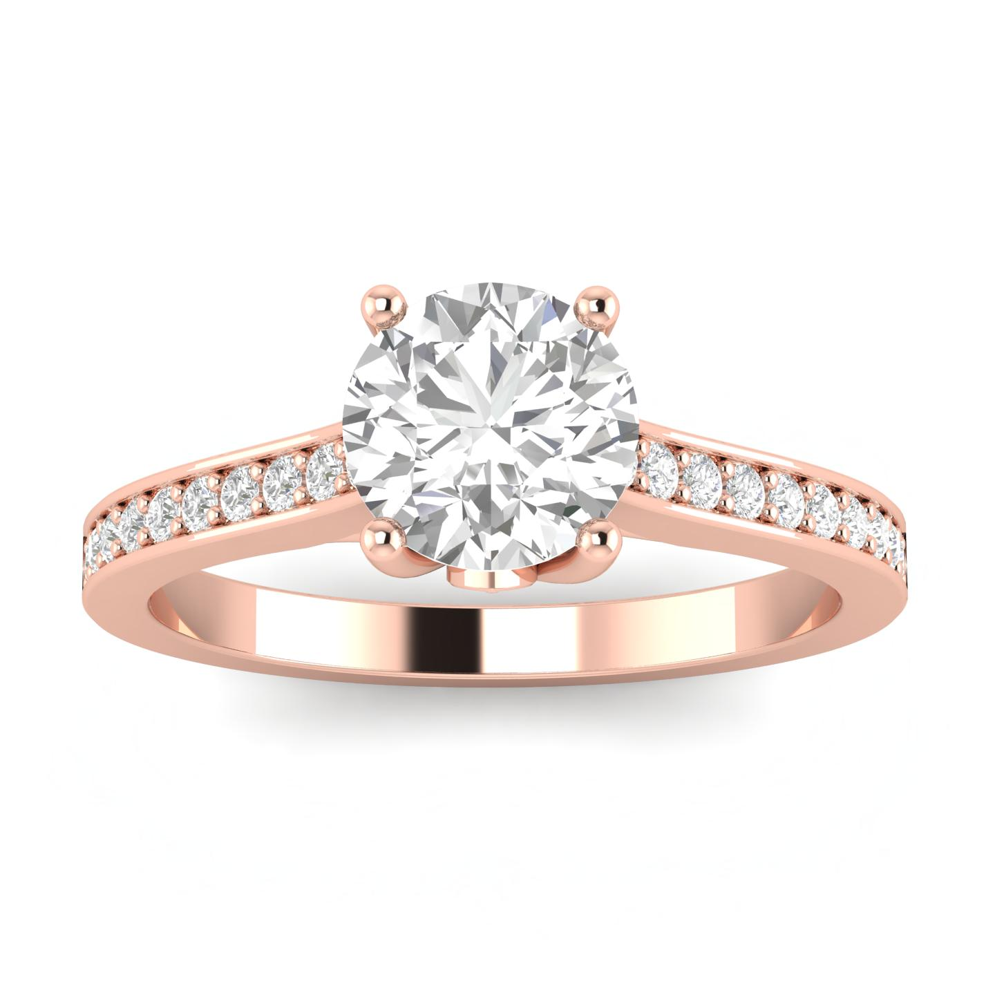 3 4ctw Diamond Engagement Ring in 10k Rose Gold by Sk Jewel,Inc
