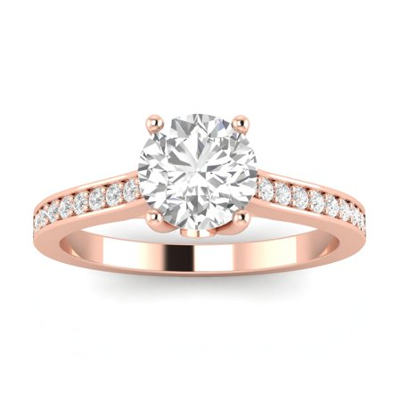 3/4ctw Diamond Engagement Ring in 10k  Rose Gold