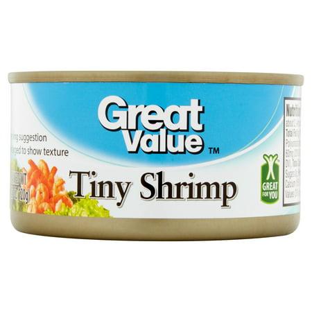 (3 Pack) Great Value Tiny Shrimp, 4.25 oz