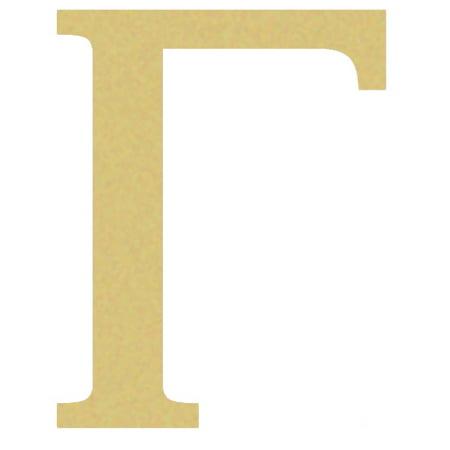 Greek Wooden Letters, Fraternity Wall Decor, 6'' Gamma Letter