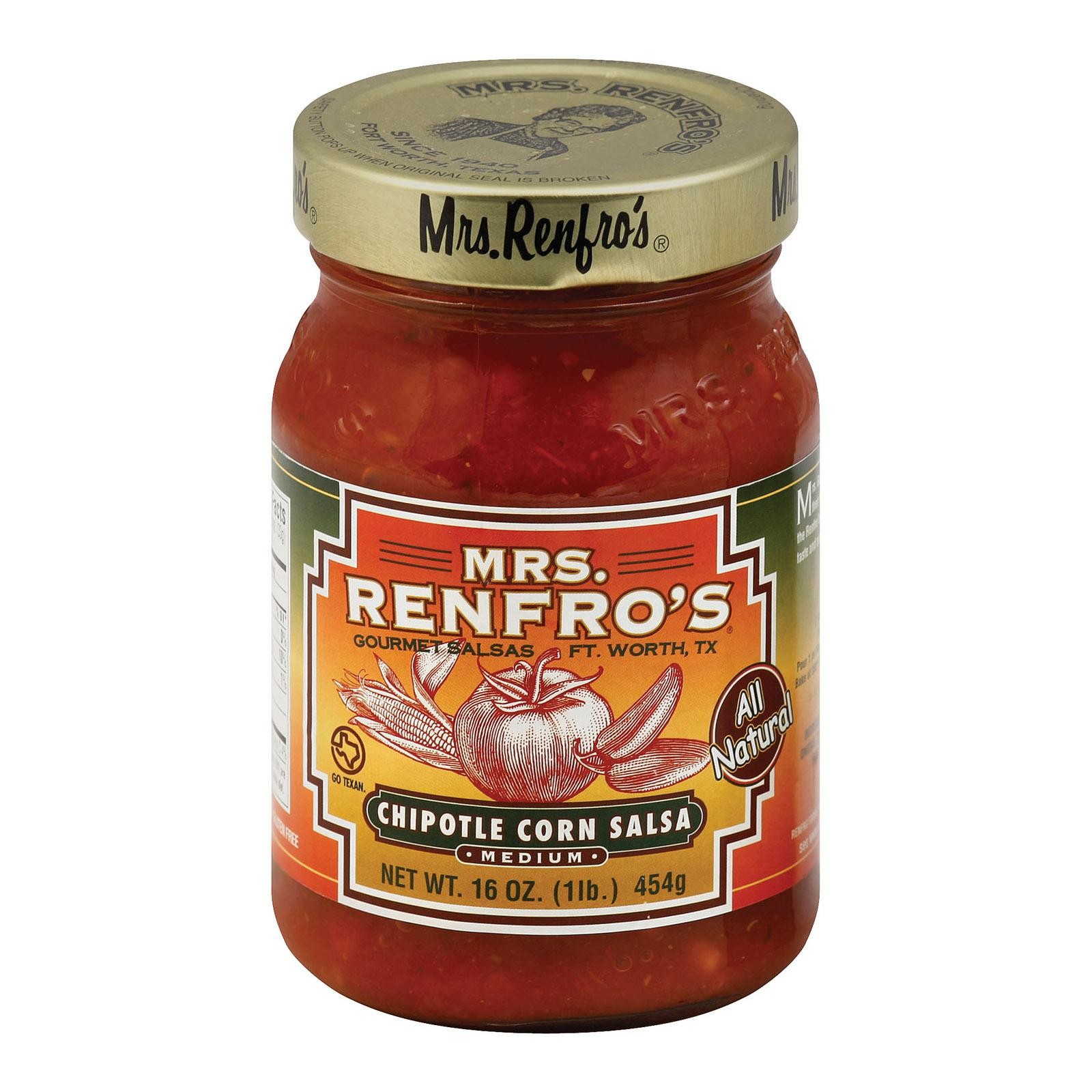 Mrs. Renfro's Chipotle Corn Salsa - Corn - Pack of 6 - 16 Oz.