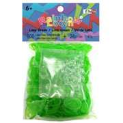 Rainbow Loom Jelly Lime Green Rubber Bands Refill Pack [600 ct]