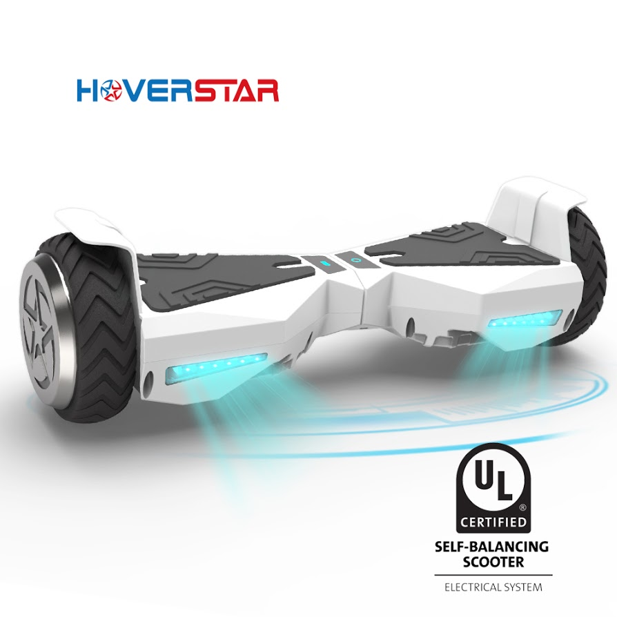 "UL2272 Listed Safe (UL) 6.5"" Bluetooth Hoverboard Two Wheel Self Balancing Electric Scooter Chrome Blue"