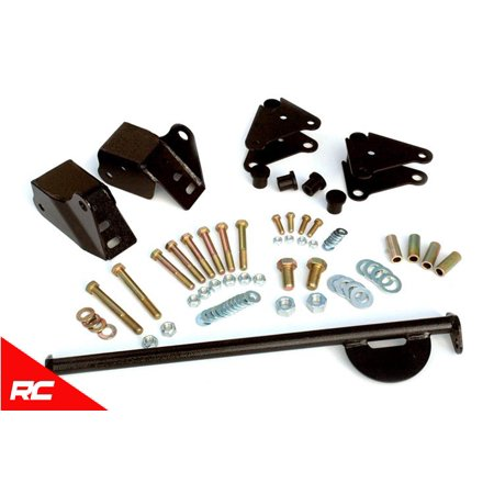 Rough Country Front Shackle Reversal Kit (fits) 1976-1986 Jeep All CJ 5060 Shackle Reversal Kit Duet Door Reversal Kit