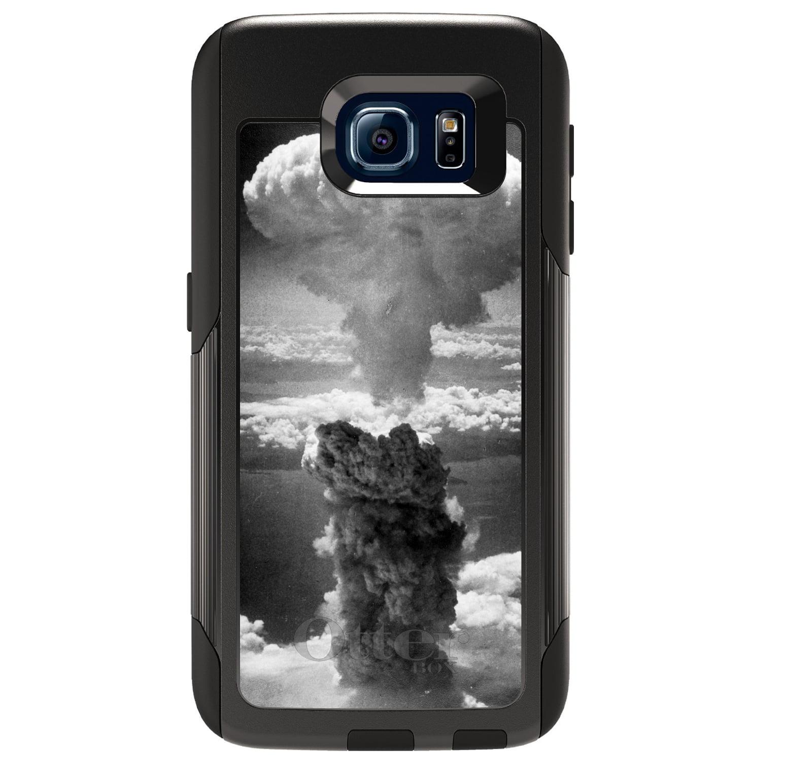 DistinctInk™ Custom Black OtterBox Commuter Series Case for Samsung Galaxy S6 - Nuclear Mushroom Cloud
