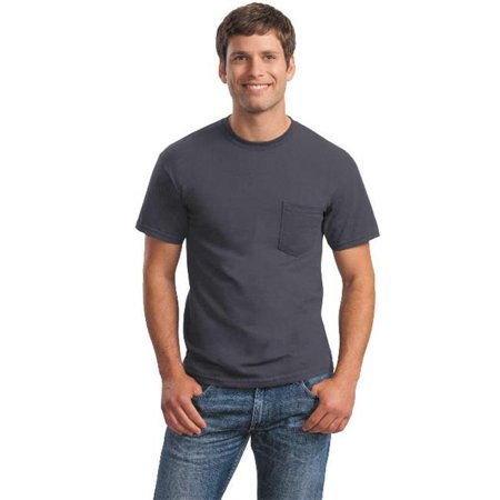 2300 Ultra 100 Percent Cotton T-Shirt with Pocket, Charcoal - Small