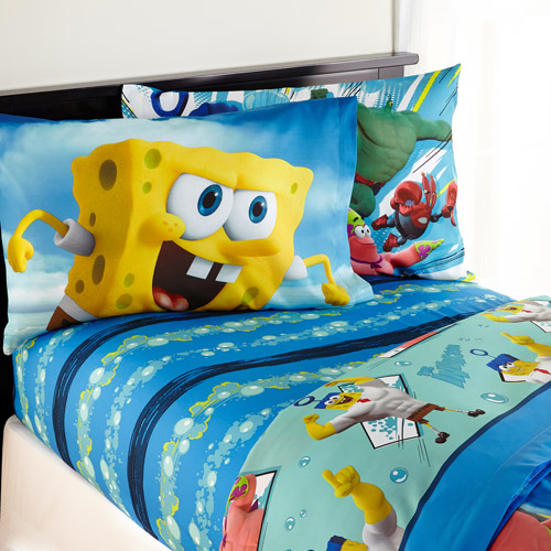SpongeBob Movie U0027Mr. Awesomeu0027 Bedding Sheet Set