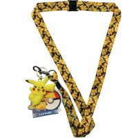 Lanyard - Pokemon - Pikachu Pattern Lanyard w/Dangle & Hangtag New FL23572679
