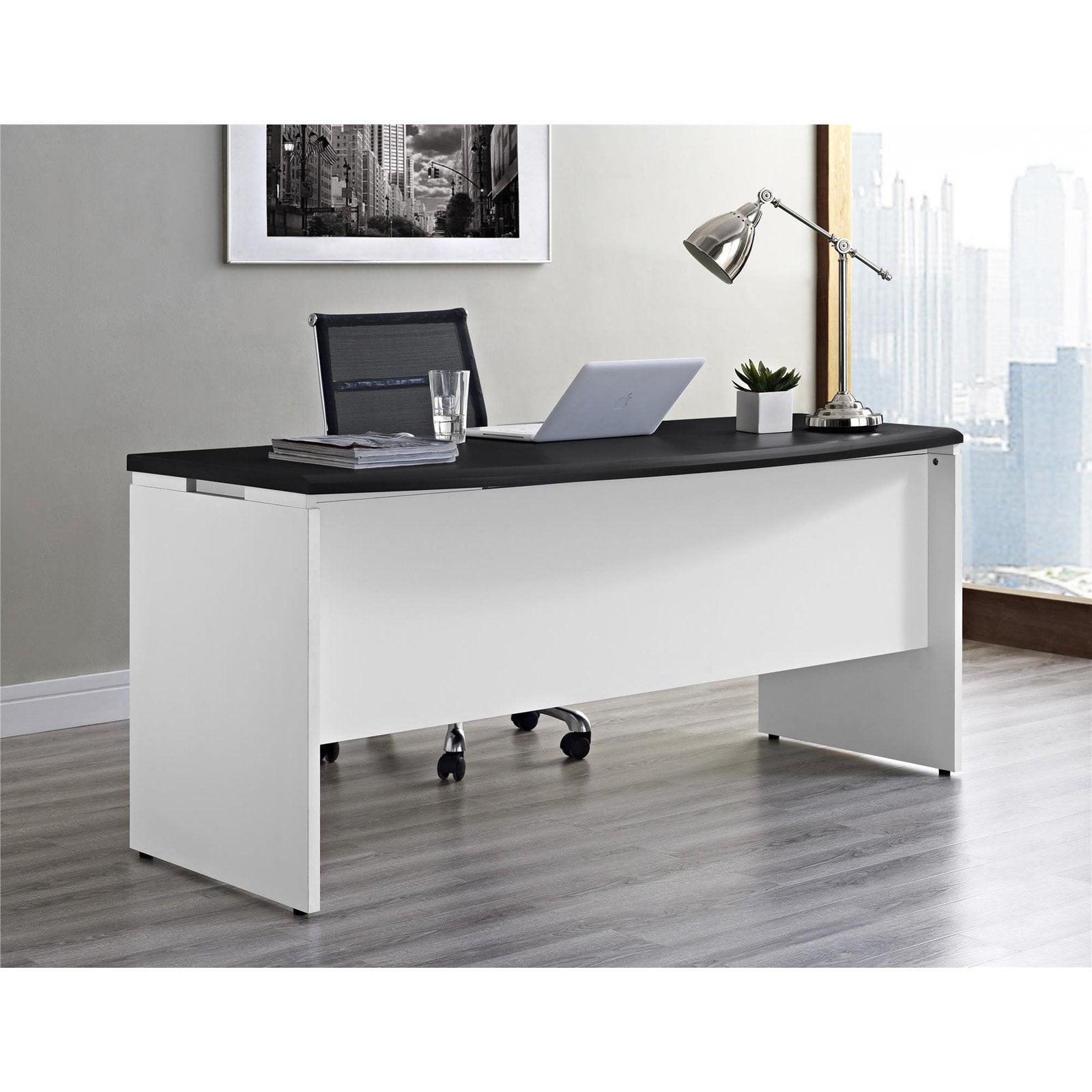 Ameriwood Home Pursuit Executive Desk, Cherry/Gray