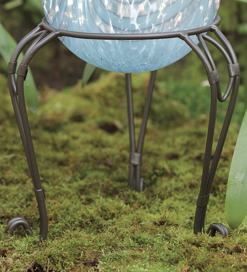 Iron Gazing Ball Stand by Problem Solvers